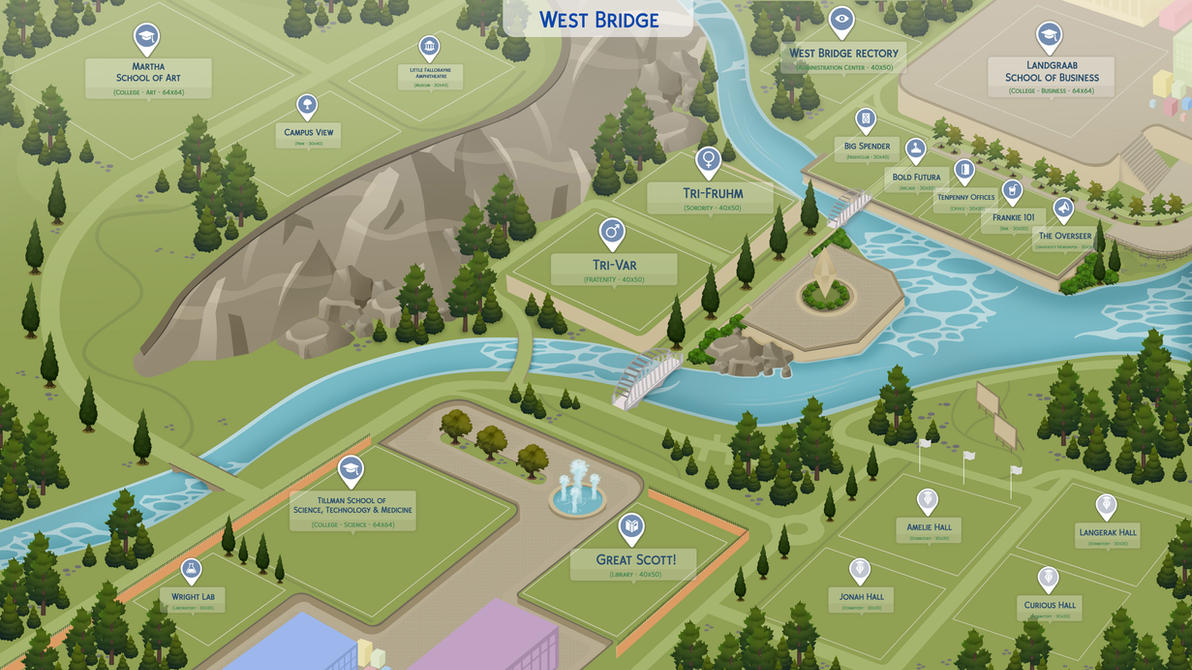 Fanmade world maps the sims forums tcwpwestbridgeuniversitypreview1byfilipesims db2nxz4g gumiabroncs Gallery
