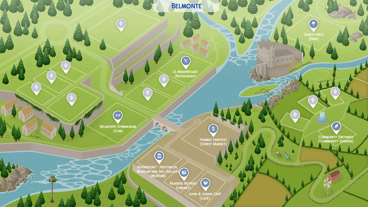 Belmonte - Sims 4 Fanmade Map by filipesims