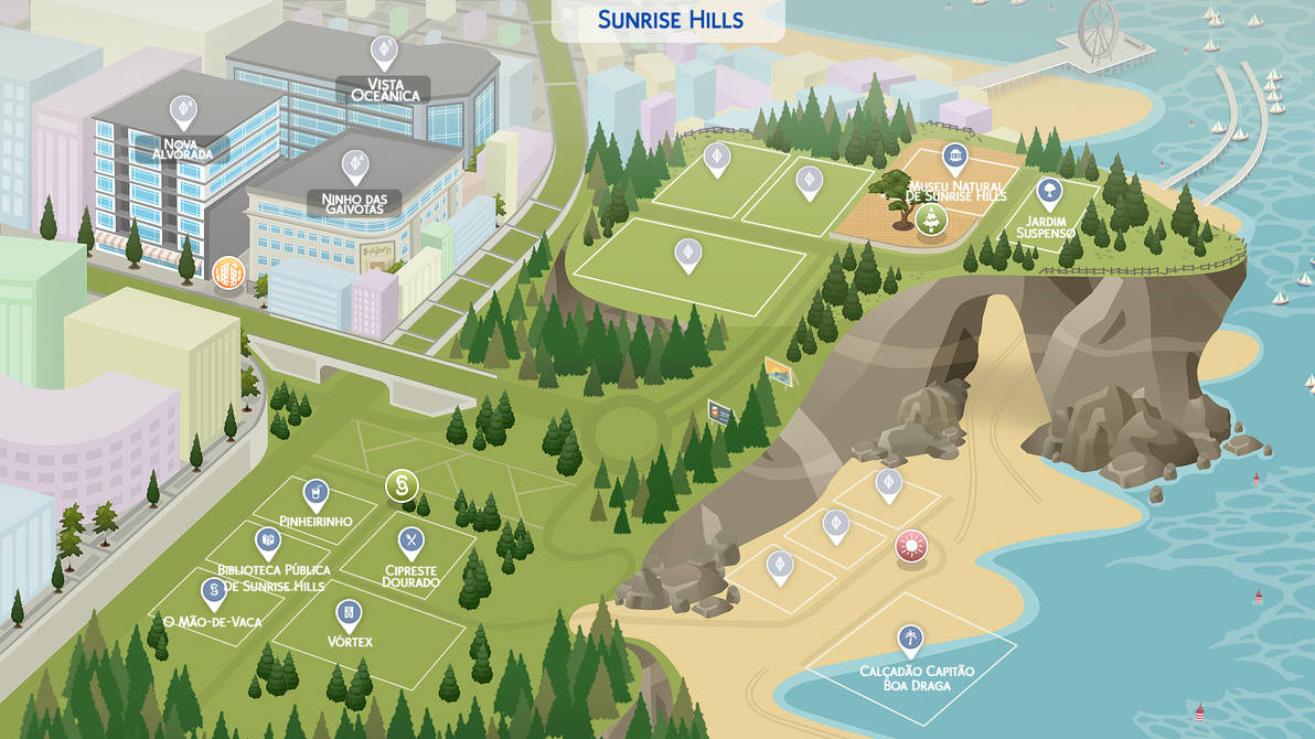 (Sims 4 Fanmade Maps) Sunrise Hills