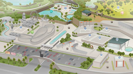 (Sims 4 Fanmade Maps) Amusement Park / Resort