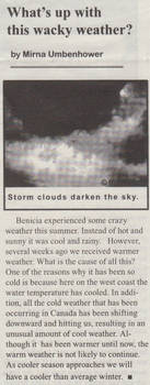 Weather Article
