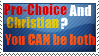 Pro-Choice and Christian by Stormchaser-Lioness