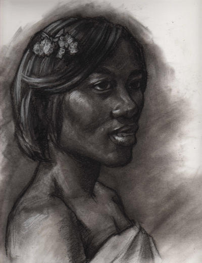 Charcoal Portrait 1.21 by Rushstarfire