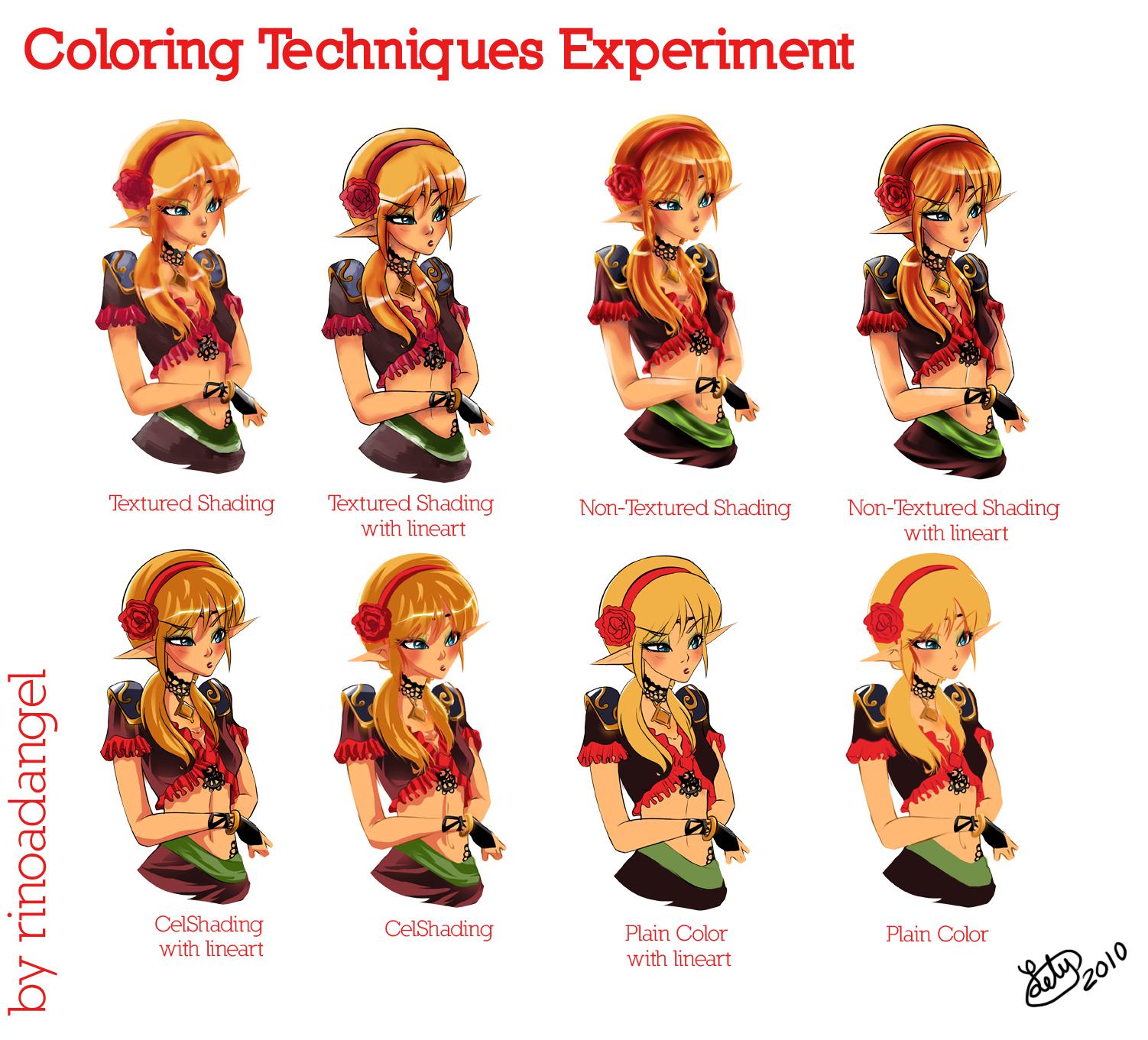 Coloring Techniques Experiment By Rinoadangel On DeviantArt