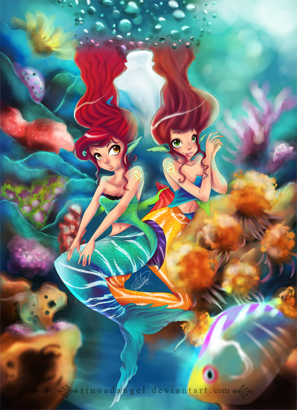 Mermaids by rinoadangel