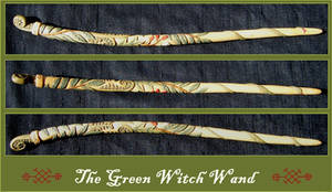 The Green Witch Wand by Lolair