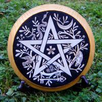 Cimaruta Altar Pentagram by Lolair