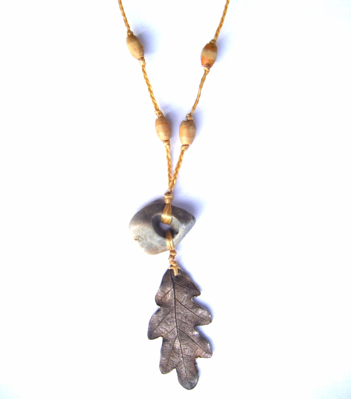 Oak Ash and Thorn Necklace by Lolair