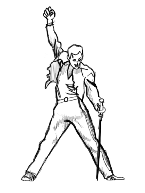 freddie mercury pose by iamnotpoe on deviantart
