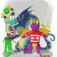 Christmas Spyro by TomKat352