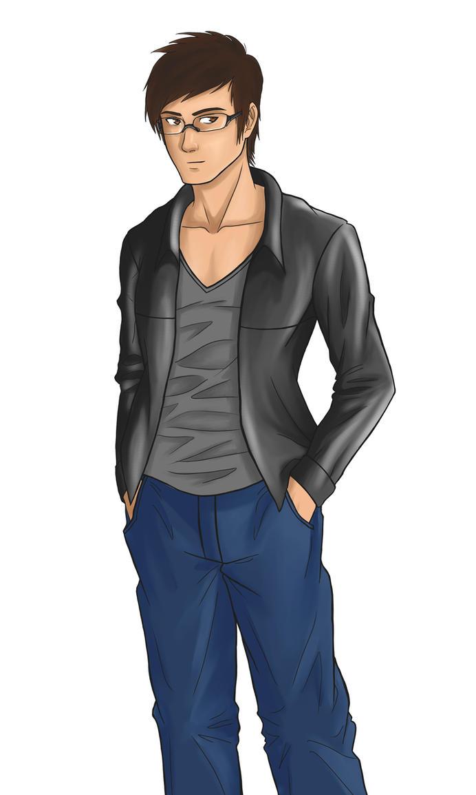 Manga Self-portrait by sadow1213