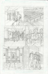 Comic page rough.