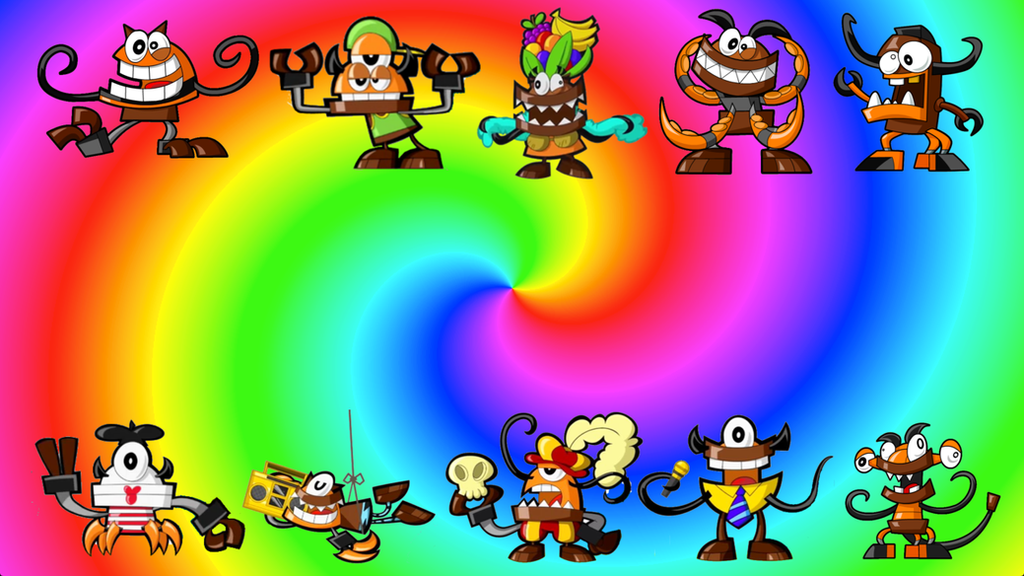 mixels mixes fang gang and flexers by zaceyshark1200 on