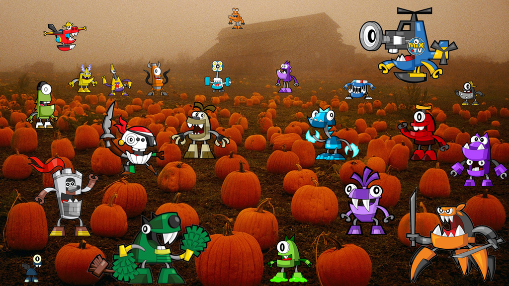 Mixels in the pumpkin patch 2016 by Zaceyshark1200