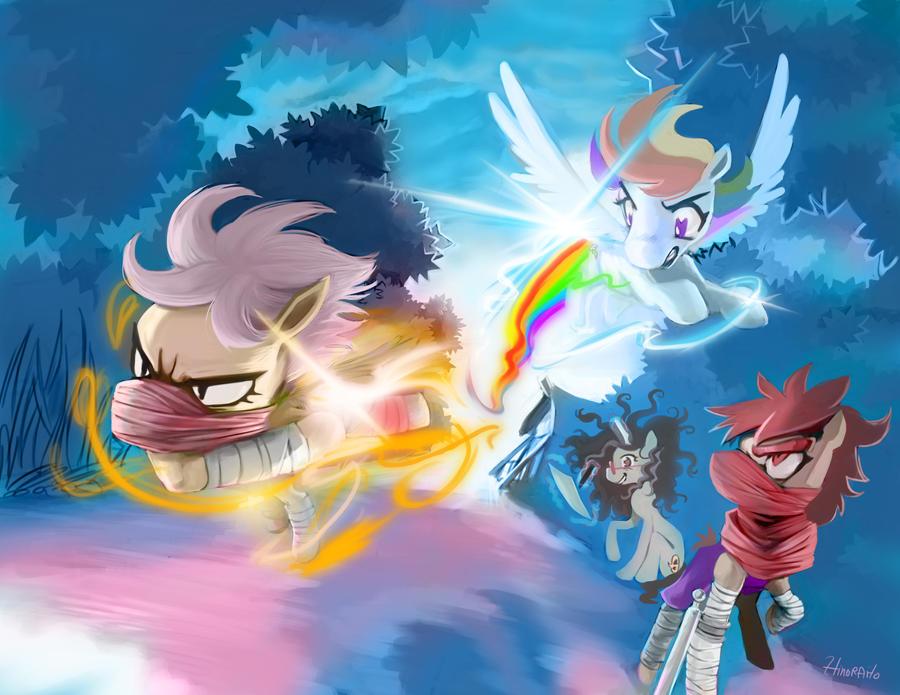 Race!! Striderloo Vs Rainbow Dash by kagekitsoon
