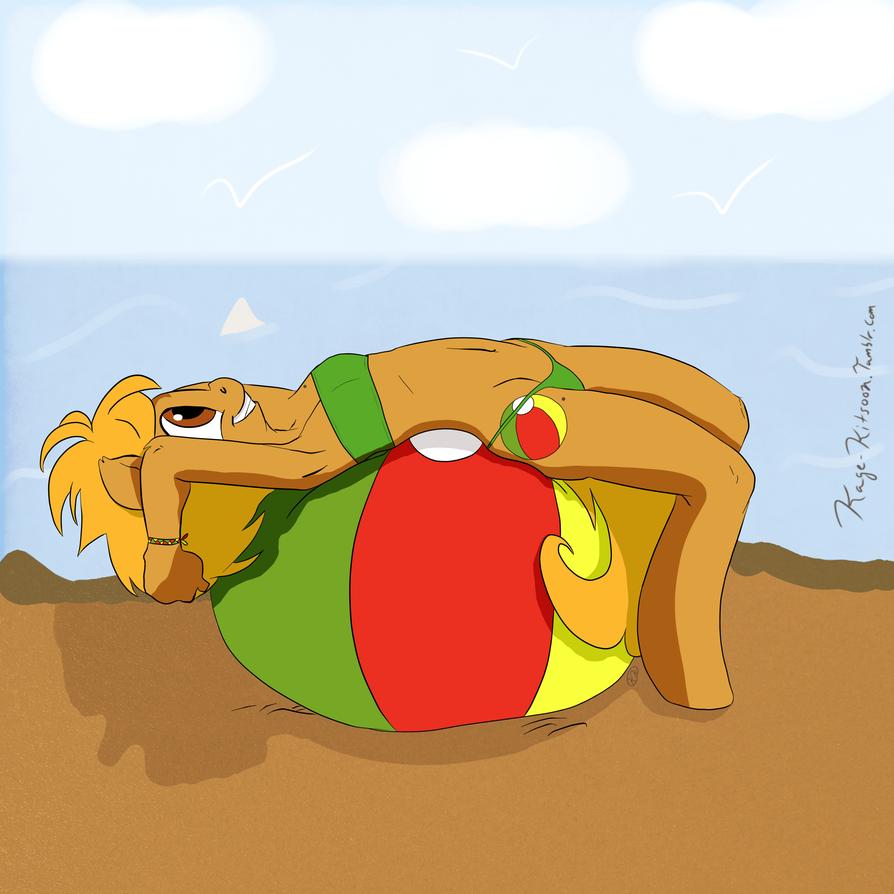 Beach Ball Relaxing by kagekitsoon