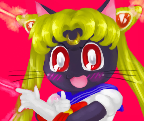 Luna cosplaying Sailor Moon by Ghost-MissingNo