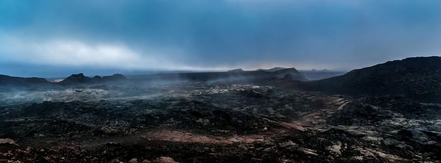Lava fields in Krafla caldera
