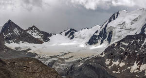 Glacier  that feed lake Alakul