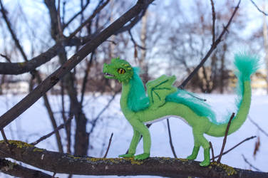 Poseable Artdoll Green baby dragon 4 by LordBurevestnik