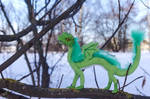 Poseable Artdoll Green baby dragon 4 by LordBurevestnik