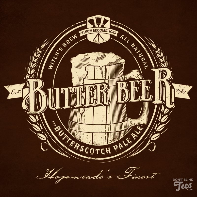 Harry Potter Butterbeer Label by dontblinktees