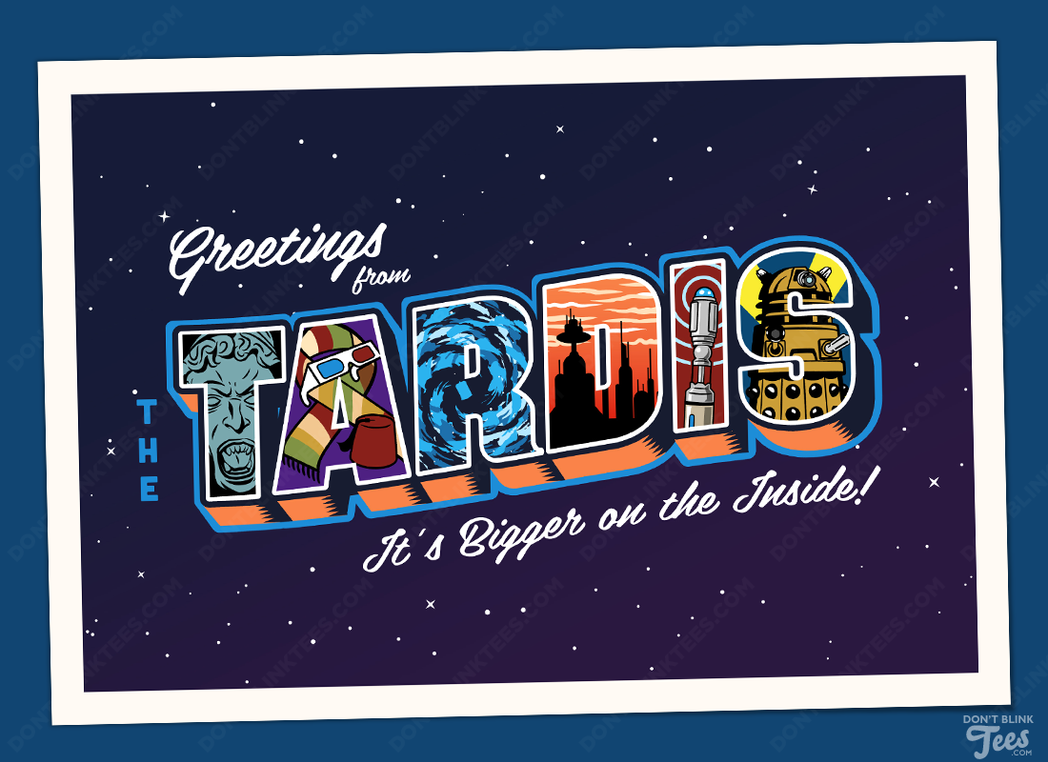 Greetings From The Tardis Postcard By Dontblinktees On Deviantart