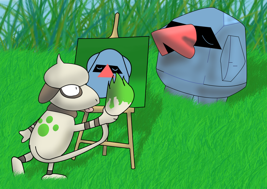 smeargle_and_nosepass_by_smoodoos.png