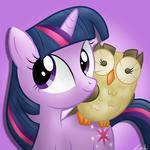 Twilight Sparkle and Owlowiscious