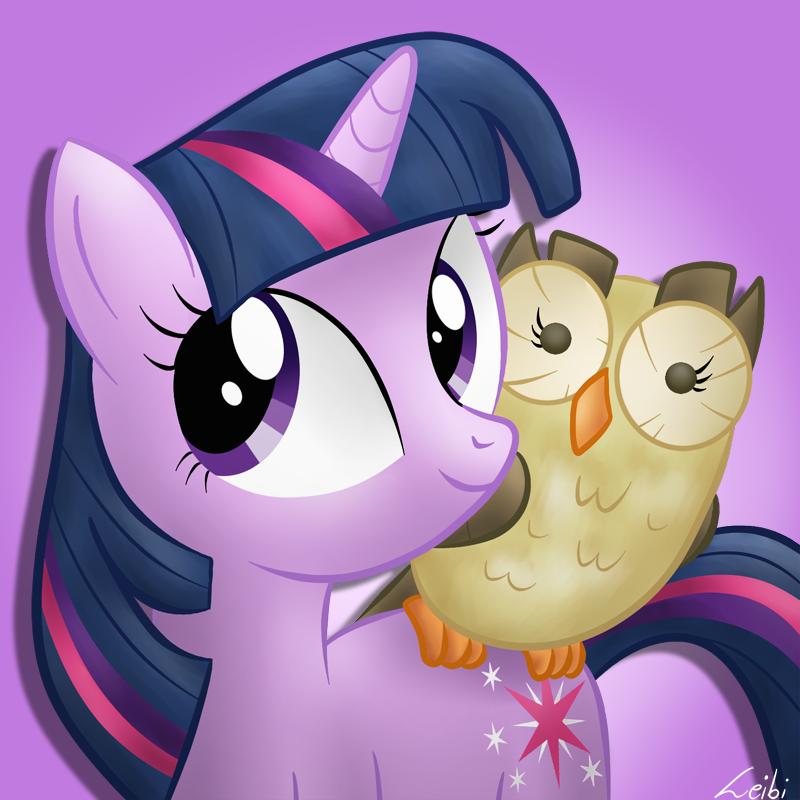 Twilight Sparkle and Owlowiscious by Leibi97