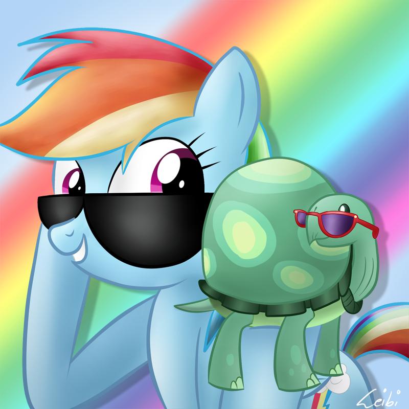 Rainbow Dash and Tank by Leibi97