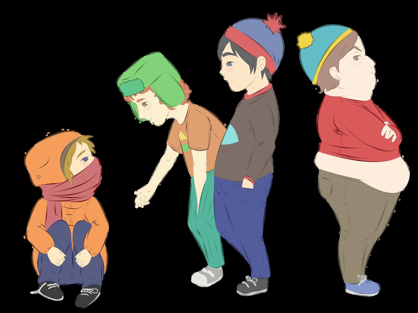 South Park Friends by PorcelainBitch