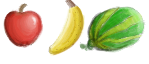 Digital Fruit Paintings by SkyTheArtist