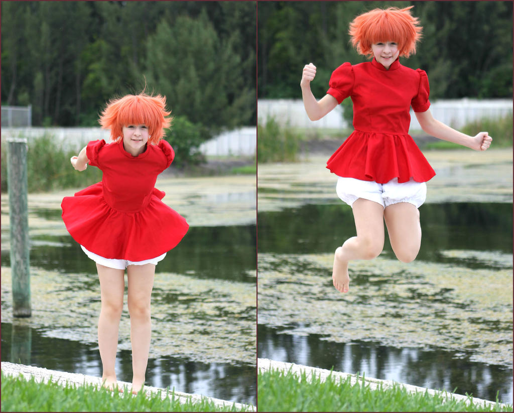 Ponyo and Sosuke: Sunshine Smiles by Victoria382 on DeviantArt |Ponyo Cosplay