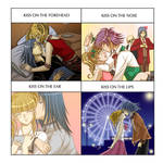 Uta and Hiiragi's Kiss Meme