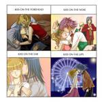 Uta and Hiiragi's Kiss Meme