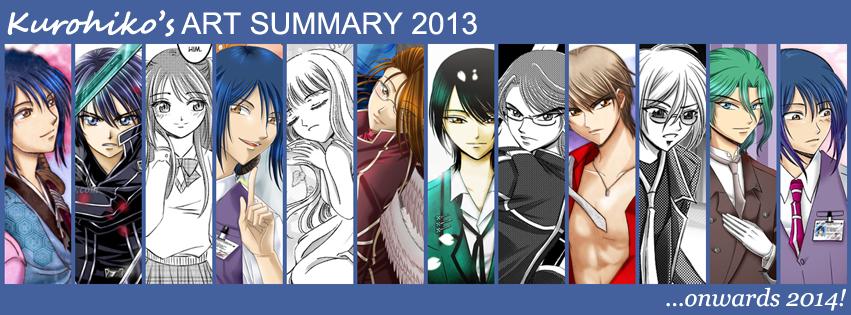 Kurohiko's Art Summary 2013 by kurohiko