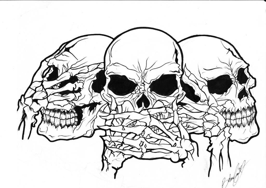 see no evil skulls by Belovedsora23 on DeviantArt