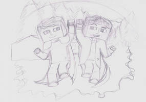 FinsGraphics and Skypercain sketch by HelloImRame