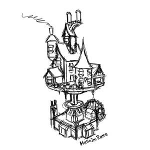 Clockwork house sketch