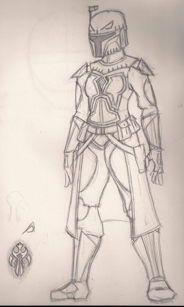 Mando Armor Design Janjin Tal by StolenThunder