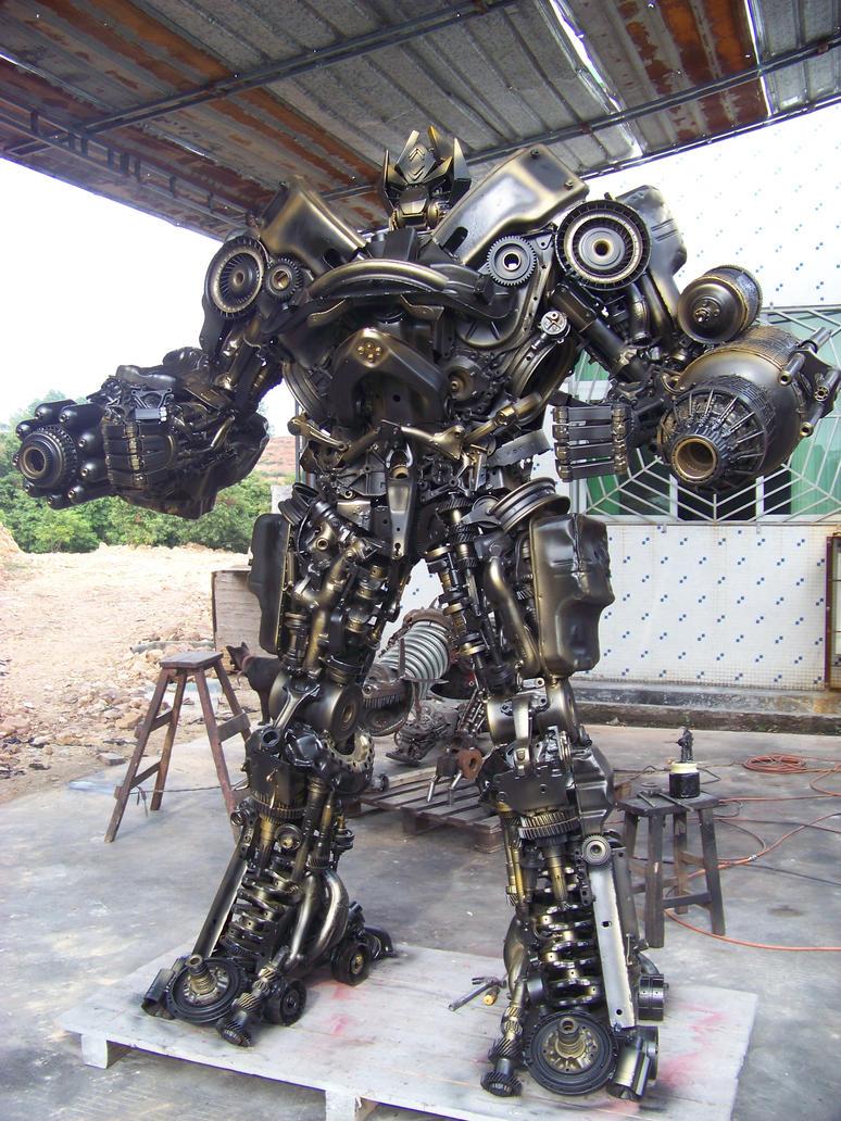 hand made steel robot by sinoera