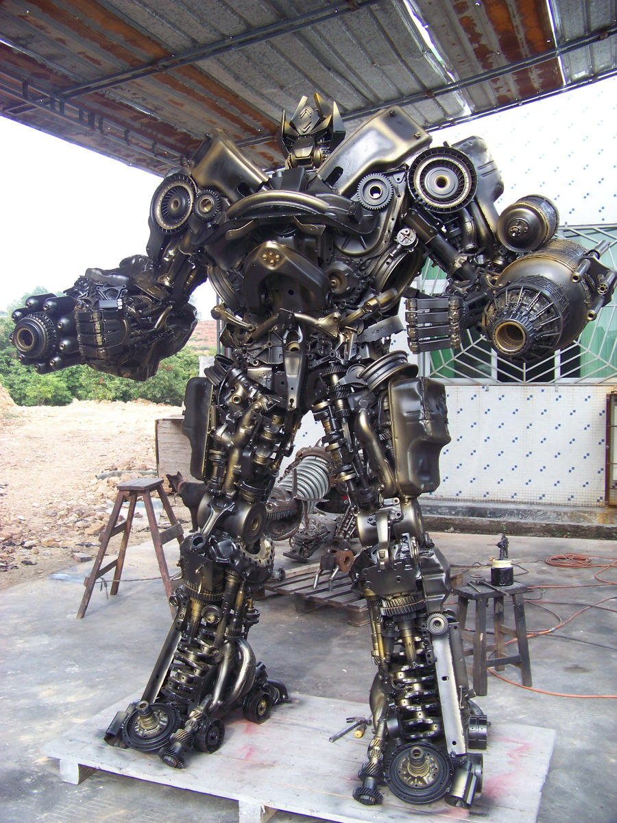 hand made steel robot by sinoera