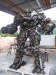 hand made steel robot