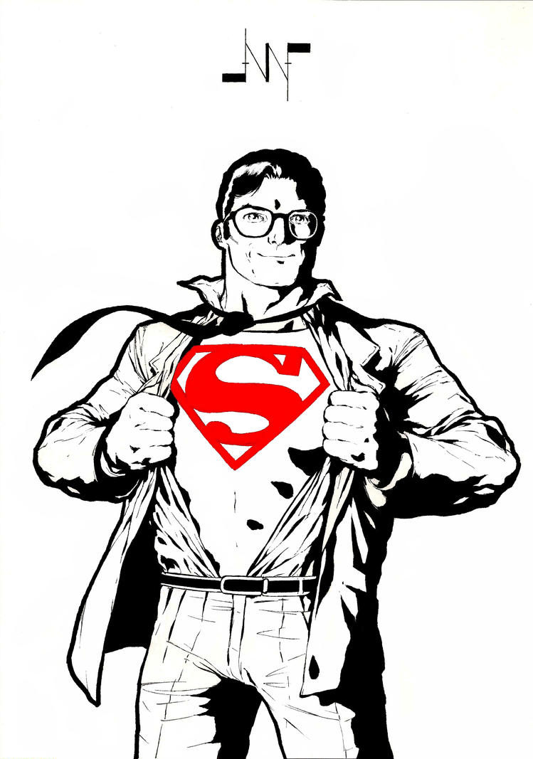 It's just a graphic of Amazing Clark Kent Drawing