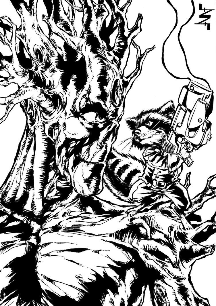 Star Lord And Rocket Raccoon By Timothygreenii On Deviantart: Rocket Raccoon And Groot By AlbertoNavajo On DeviantArt