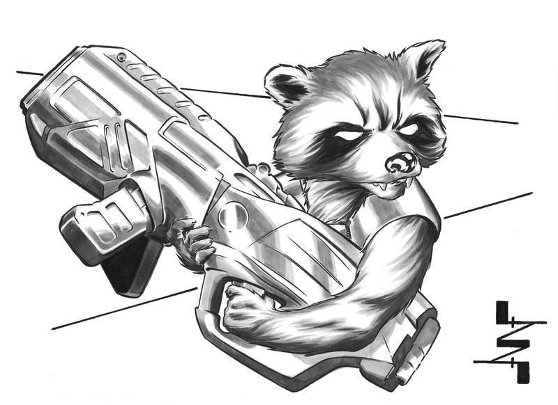 Rocket Raccoon Drawing Easy 59279 Newsmov