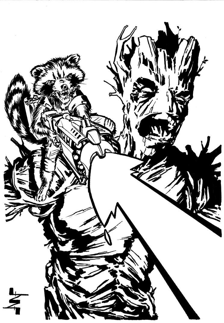 Groot and Rocket Raccoon by AlbertoNavajo on DeviantArt