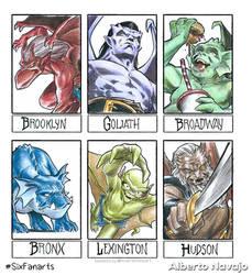 Six Fanarts: Gargoyles