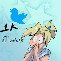 I hit 1K followers on twitter